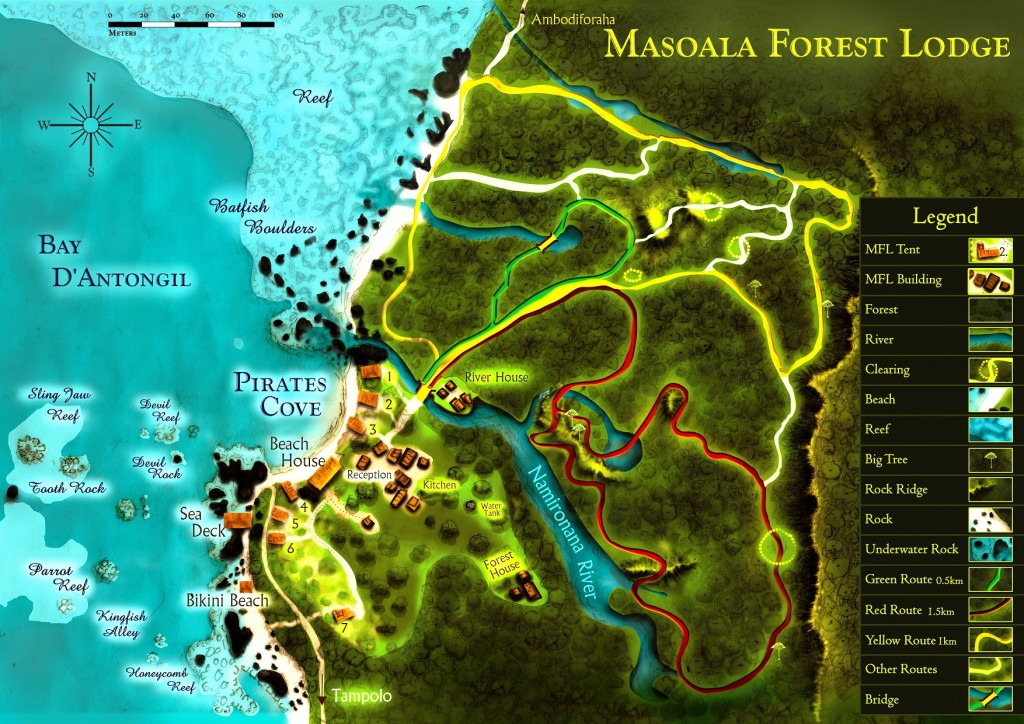 Map of Masoala Forest Lodge